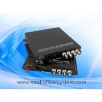China 4CH AHD media fiber converter for coaxial and ip camera hybrid application on sale