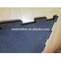 China indoor excercise rubber floor tile on sale