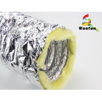 Best Silver Aluminium HVAC Duct Insulation Wrap , Fire Retardant Insulated Exhaust Duct wholesale