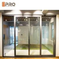 China Slim Frame Aluminium Sliding Doors Soundproof Interior Sliding Glass Doors slide windows and doors interior wooden glass on sale