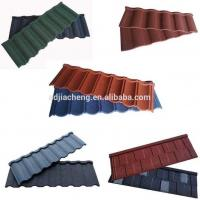 Best Red Color Stone Coated Metal Roofing Tiles / Stone Coated Steel Roofing Tiles wholesale