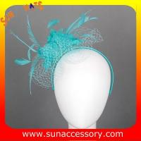 Best 0913 fashion green  sinamay fascinators caps for ladies  ,Fancy Sinamay fascinator  from Sun Accessory wholesale