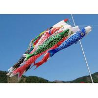 Best Customized Japanese Fish Windsock Polyester Satin Decorative Outdoor 100cm wholesale