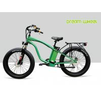 """Best 9 Speed 26"""" X 4.9 Tire Electric Beach Cruiser Bicycle With Rear Carrier Lights MTB Suspension Fork wholesale"""