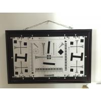 Best iso 12233 2000 lines cctv camera test chart resolution test chart on paper and glass (chrome print) 200mm*356mm 16:9 wholesale
