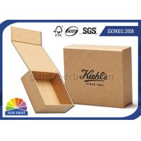 Cheap Logo Printed Brown Kraft Paper Hinged Lid Gift Box With Magnetic Closure for sale