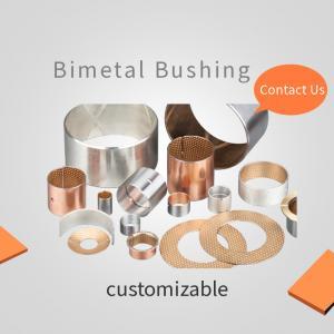 Best Tin Plating Bimetal Bearing Bushes CuPb10Sn10 Slide Layer wholesale