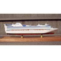 Best Scale 1:900 Fine Princess Cruise Ship Models , Container Ship Model With ABS Hand Carving wholesale