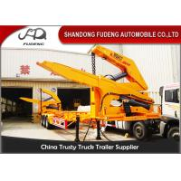 China MQH37A 37 Ton Container Side Lifter Trailer Side Loader Truck Trailer  20ft 40ft on sale