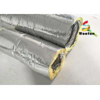 Best Round 4 Inch Flexible HVAC Duct Insulation Wrap Insulated Aluminum Small Bending Radius wholesale