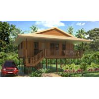 Best Hot-Sale Prefab Light Steel Structure  Holidays Thailand Wooden House Bungalow With 3 Bedrooms wholesale