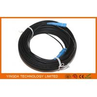China SC / UPC 200 Meters Fiber Optic Patch Cord FRP Square FTTH Drop Fiber Optic Jumper on sale