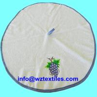 China Embroidery Round Hanging Dish Towels For Kitchen Use on sale