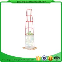 """Best Large Tall Tomato Plant Stakes , Red Heavy Duty Tomato Cages size 14"""" in diameter x 66"""" H overall Fabric is imported wholesale"""