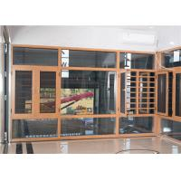 Best Yellow Brown Aluminium Frame Glass Window And Doors Air Proof Flush Design wholesale