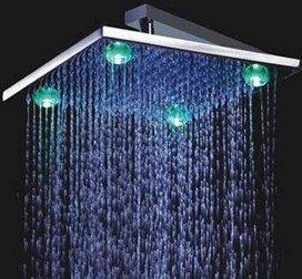 Best Brass Square LED Rain Shower Head wholesale