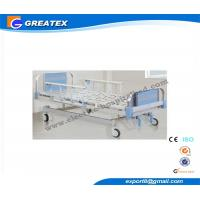 China OEM Stainless Steel ABS Headboard Manual Hospital Bed with Two Function Central Controlled on sale