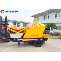 Best Hydraulic Jacking Legs Small Cement Pump , Towable Concrete Pumping Equipment wholesale