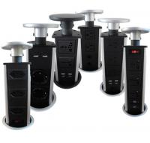 Best 220V 16A AC Kitchen Pop Up Power Sockets 3 Plug 9cm Install Size wholesale