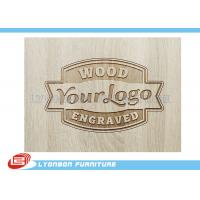 China Customized Engraved Wood Display Logo For Display Accessory , Paint Finished on sale