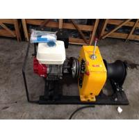 Petrol Driven 5 Ton High Speed Winch / Gasoline Powered Portable Capstan Winch
