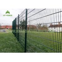 China Anti Climb Double Loop Decorative Fence , High Security Double Wire Mesh Fence on sale