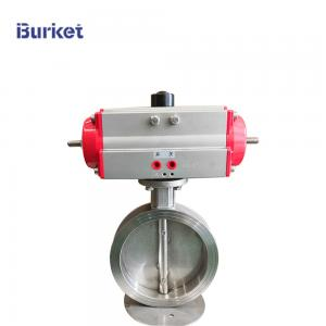 Best XYPSB50 PN16 PN16 Stainless steel body Corrosion-resistant fluorine lined pneumatic wafer flange butterfly valve wholesale