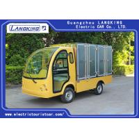 Best 2 Passengers Golf Food Cart  Loading 900kgs / Electric Freight Car With Door wholesale