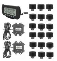 Buy cheap Max.203 PSI Truck TPMS With Strap-on Sensors Display 5 In LCD Monitor RS232 DB9 Connector trailer changeble product