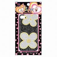 China Fashionable mobile phone stickers, available in various colors on sale