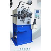Blue Painting Compression Spring Machine / Spring Coiling Machinery