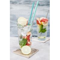 Best 19.7 Cm Kraft Spiral Blue And White Paper Straws Environmental Protection wholesale