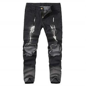 Best Skinny Denim Ripped Hole Jeans Denim Pencil Pants wholesale