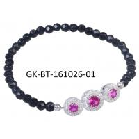 Best Exquisite craftsmanship 925 sterling silver jewellery agate beads bracelet anniversary, engagement, gift wholesale