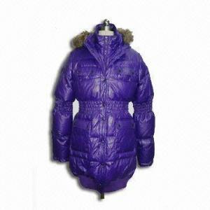 China Polyester Lining Ladies Jacket, Rib on Bottom, Crinkle Stitching on Waist and Elbow on sale