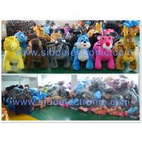 Best Plush Stuffed Toy Ride , Coin Operated Battery Scooter , Animal Rider wholesale