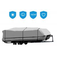 Best Three Sizes Pontoon Boat Mooring Cover , Boat Trailer Cover Gray Color 17-20 Ft wholesale