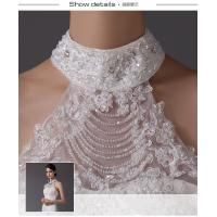 China Sexy high collared illusion neckline Long Wedding Dresses with lace covered back on sale