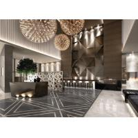 Best Contemporary Hotel Lobby Furniture Fabric Barstool With Bar Counter wholesale