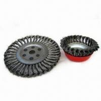 China Steel Wire Brushes, Suitable for Descaling, Polishing and Roughening with Twist Wire on sale