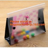 Best Office school filing supplies A4 plastic portable document file bag /envelope pocket file folder with button wholesale