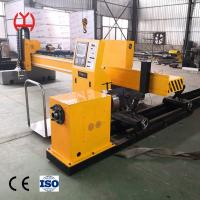 China Auto Ignition Fiber Laser Pipe Cutting Machine Electric Adjustable Height Regulating on sale