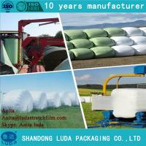 Best Luda 25mic green 1500m width silage bale wrap wholesale