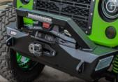Best Custom Jeep Wrangler Bumpers , Jeep Wrangler Aftermarket Bumpers With 10'' Light Bar wholesale