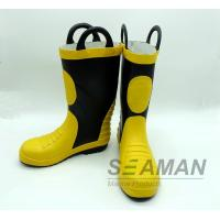 China Steel Toe Fireman Rubber Boots Fire Fighter'S Equipment EN15090-2012 Safety Shoes on sale