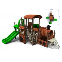 Best Kias Timber Wooden Train Playground Entertainment Equipment wholesale