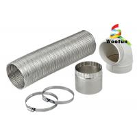 Best Expandable Semi-Rigid Flexible Aluminum Pipe Duct with Clamps for Heater wholesale