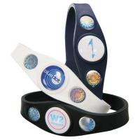 Best Customize Power Silicone Balance Bracelet with 3 Holograms Can Work In Water For Everyone wholesale