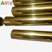 Best Golden Colour SS Welded Pipe Stainless Steel 304 4 Od Stainless Steel Tubing wholesale