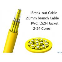 Best 24 Fiber Multimode Fan-Out Indoor Breakout Fiber Optic Cable With High Strength wholesale